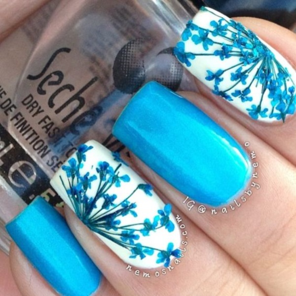 Christian Nail Art Designs Pink And Blue
