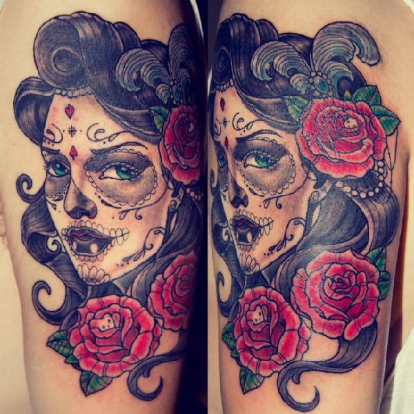 f77da1e4c neo-traditional-tatoos-ideas-3. Bold Roses